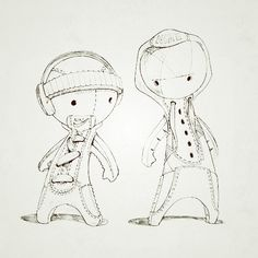 The Nike Cortez Brothers by Creature Freak , via Behance