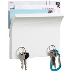 The Container Store > Piano White Magnetter Key & Letter Holder by Umbra®    Container Store $16.99    8 x 6