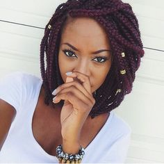 plum purple braids