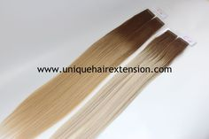 Our factory produce the best quality ombre color tape in extensions with the best quality, many fashion colors you can choose, also can produce your own color ring. you also can visit our INSTAGRAM www.instagram.com/qingdaouniquehair to get more pictures and videos. Our factory also have many stock tape in extensions ready to ship, just email us order@uniquehairextension.com to get more details. Qingdao Unique Hair Products Co.,Ltd. www.uniquehairextension.com Whatsapp: +8613553058361 Hair Extension Salon, Tape In Hair Extensions, Ombre Color, Unique Hairstyles, Color Ring, Fashion Colours, Tangled, Picture Video, Salons