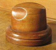 Antiques Atlas - French Fruit Wood Hat Block Milliners Form
