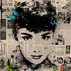 """Saatchi Art Artist Vee Bee; Printmaking, """"Mini Print . Audrey Hepburn"""" #art"""
