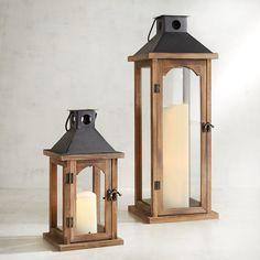 Altman Brown Wood Lanterns