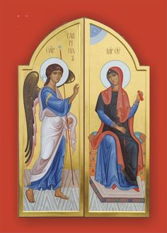 Royal Doors with the Annunciation Royal Doors, Byzantine Icons, Infancy, Orthodox Icons, Sacred Art, Religious Art, Virgin Mary, Christ, Religion