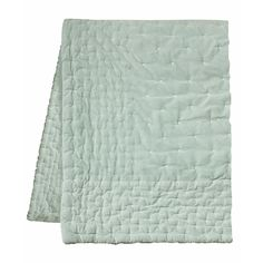 Linum Ice Green Paolo Quilted Bedspread: The Paolo bedspread from Linum in lush ice green. Create a luxurious feeling in the bedroom with this cotton velvet bedspread.