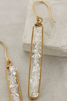 Herkimer Matchstick Earrings - anthropologie.com