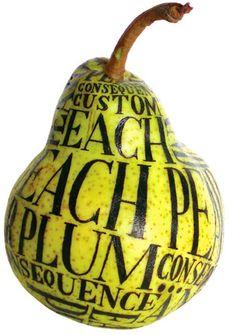 Peach Like Fruit  Letters