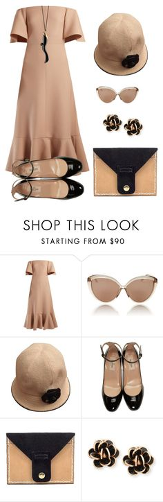 """""""Untitled #951"""" by glamourgrammy on Polyvore featuring Valentino, Linda Farrow, Chanel, Chantecler and Monica Rich Kosann"""