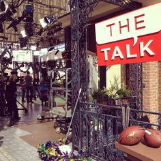 @TheTalk_CBS: 1st official sneak peek of #TheTalkSuperBowl set at #CBSSuperBowl Park! @ Jackson Square