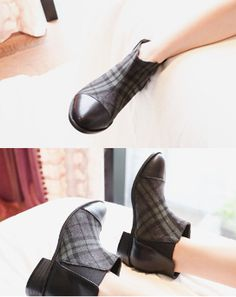 Cherryspoon Green Check Ankle BootsLooking for a quick way to update your style? Then these green check ankle boots are for you. The classic ankle boots - with their round toe, low heels, and side gussets - get an update with a green check front panel that