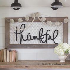 Handwritten word cutouts by Start at Home Decor Chicken wire sign Thankful word cutout Wood words Chicken Wire Crafts, Chicken Wire Frame, Wood Home Decor, Unique Home Decor, Diy Home Decor, Room Decor, Wall Decor, Wall Art, Wood Projects For Beginners