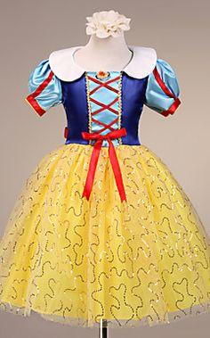 tule de manga curta a-lineprincess e cetim de casamento / noite vestido da menina flor