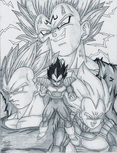 Another Vegeta drawing. Like always I used good old paper and pencil to draw this one. This one is also pretty old probably close to 5-6 years old. After seeing a similar looking Goku group picture...