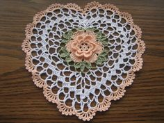 Mini heart hand crocheted new Turkishteam AFATC by DEMET on Etsy. I could easily make something like this.