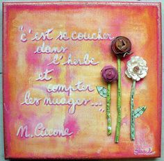 original mixed media canvas by Studio Shirel, via Flickr