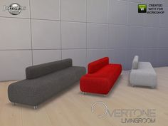 Overtone sofa 3 colorsFound in TSR Category 'Sims 4 Sofas & Recliners'