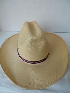 VINTAGE KEYSTON BrownFelted Western  hat size 7 3//8