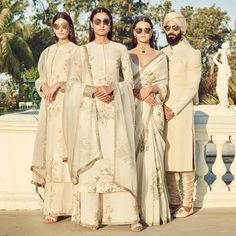 Lovely white ivory gold sarees and sherwani by Sabyasachi spring summer 2018 collection #Frugal2Fab