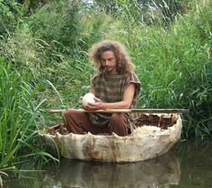 ACORN EDUCATION ADVENTURE    THE CORACLE ORACLE JOURNEY FOR PEACE    Ecological artist Chris Park took a unique Pilgrimage for Peace last year. He single-handedly navigated a home crafted, primitive coracle boat from an Oxfordshire spring to the sea, through 190 miles of Britain's water ways, carrying a magic Egg.