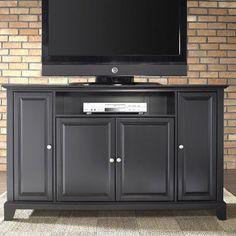 "Crosley Furniture KF10001CBK Newport 60"" TV Stand in Black Finish"