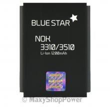 BATTERIA ORIGINALE BLUE STAR 3,7V 1200mAh LI-ION IONI DI LITIO PER NOKIA 3310 NERA BLACK NEW NUOVA IDEA REGALO - SU WWW.MAXYSHOPPOWER.COM