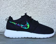finest selection bd773 836e1 Nike Roshe Run custom design, Rosherun, Mens and Womens sizes available,  Lime, Green, Pink, Purple, mosaic design