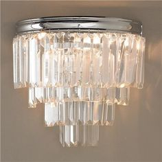 Modern Faceted Glass Layered Wall Sconce 10W X 6D X 7H