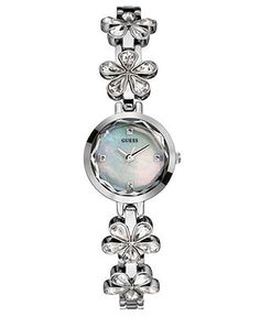 Watches for Women - Macy's Cute Watches, Guess Watches, Women's Watches, Jewelry Accessories, Fashion Accessories, Flower Bracelet, Crystal Flower, Passion For Fashion, Belly Button Rings
