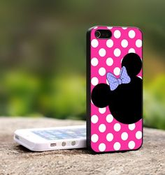 Minnie Mouse iPhone Case - For iPhone 4,4S Black Case Cover | TheCustomArt - Accessories on ArtFire