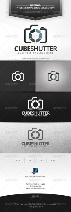 Cube Shutter Logo — Vector EPS #vectors #photo • Available here → https://graphicriver.net/item/cube-shutter-logo/6537124?ref=pxcr