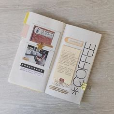 Gorgeous scrapbook pages - ideas and inspiration for keeping a travel journal, sketchbook, or art journal