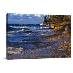 Add a window to the rugged lake shore with the Great BIG Canvas Lake Michigan Shoreline Sunset Miners Beach Michigan Canvas Wall Art Print . Big Canvas Prints, Canvas Wall Art, Wall Art Prints, Lake Michigan, Tapestry, Sunset, Beach, Painting, Walls