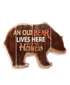 'An Old Bear Lives Here' Wall Art #zulily #zulilyfinds