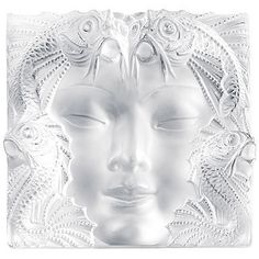 LALIQUE CRYSTAL WOMAN FACE MASK