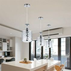 Affordable Modern Crystal Iron Ceiling Lights Chandelier Dining