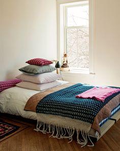 Brooklyn Interiors: The bohemian house of designer Mona Kowalska - Photo: Matthew Williams Gravity Home, Home, Bedroom Inspirations, Home Bedroom, Bedroom Interior, Bed, Interior, Bedroom Decor, Bedroom