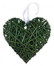 Woven Cane Heart in various colour range