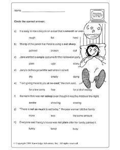 Worksheets 6th Grade Vocabulary Worksheets snapshot image of vocabulary fun grade 3 4 worksheet about adjectives view free parts speech for 2nd grade