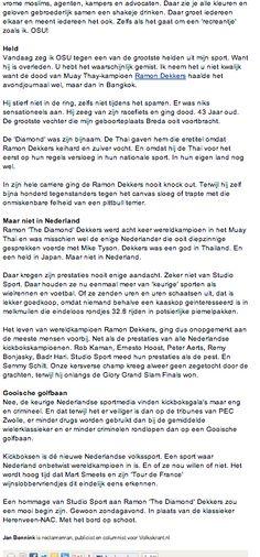 Column Volkskrant Opinie nr 31 part 2