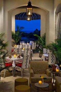 Havana Beach's Veranda is an open dining area with backdrop of the stunning scenery of the Gulf.