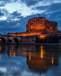 Castel Sant'Angelo, Italy Photograph by Karen McDonald, National Geographic Your Shot The cylindrical Castel Sant'Angelo in Rome, Italy, overlooks the Tiber River. It now functions as a museum.