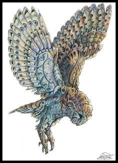 owl steampunk drawings - Google Search