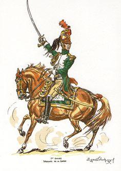 Gli Ufficiali dellaGuardia Imperiale     Artiglieria a cavallo         Dragoni        Granatieri a cavallo