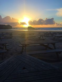 Perranporth Beach Beautiful Sky, Cornwall, Therapy, Celestial, Sunset, Beach, Places, Outdoor, Sunsets
