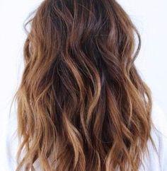 warme Zimt balayage Haar Farbe
