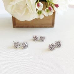 Stud love  Diamond stud earrings handmade by Ricardo Basta Fine Jewelry