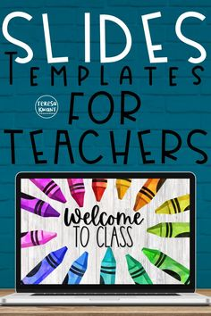 Use these beautiful and colorful slide templates to enhance your lesson planning for distance learning! The watercolor supplies are timeless. Perfect for in the classroom or online. This comes with both Google Slides and PowerPoint options. The slides can be used on any device! Edit them to fit your needs. No more boring slides, instead use these modern slide templates. Online learning can still be fun and engaging. Your elementary students will love these. #backtoschool #distancelearning. Google Classroom, School Classroom, Classroom Activities, In The Classroom, Classroom Ideas, Classroom Procedures, Classroom Management, Teaching Technology, Blended Learning