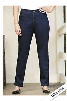 564d5c61dc2 Comfort Waist Straight-leg Jeans Plus Size Womens Clothing