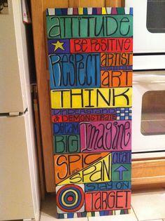 Art room rules....love!