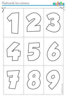 flashcards de numeros … is part of Numbers preschool - Preschool Writing, Numbers Preschool, Preschool Education, Preschool Learning Activities, Learning Numbers, Preschool Worksheets, Kindergarten Math, Teaching Kids, English Fun